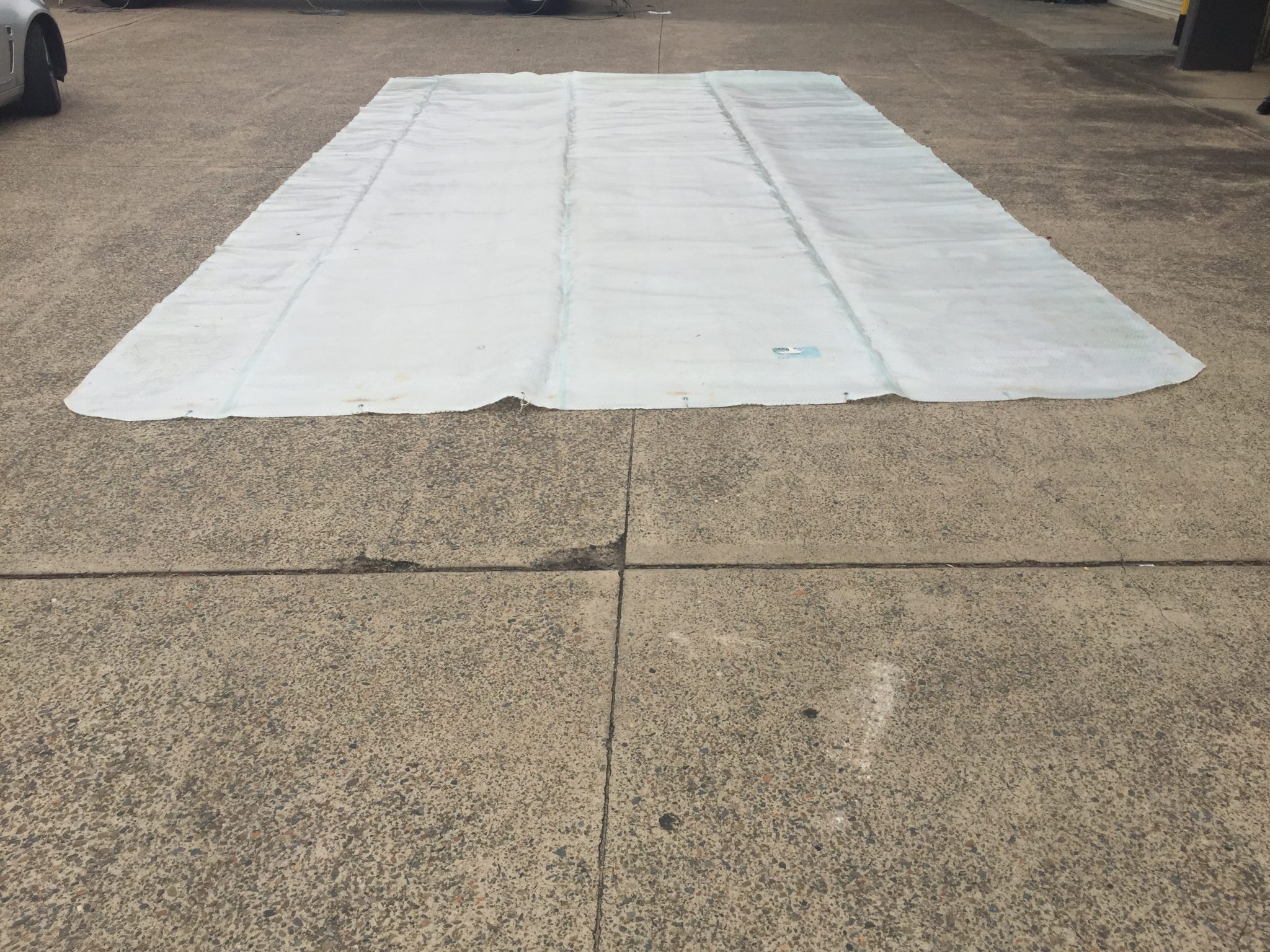 White and Brittle – When a Pool Cover has had its Day